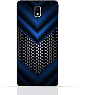 Samsung Galaxy J7 2017/J7 Pro TPU Silicone Case With Abstract Blue Mesh Pattern Design