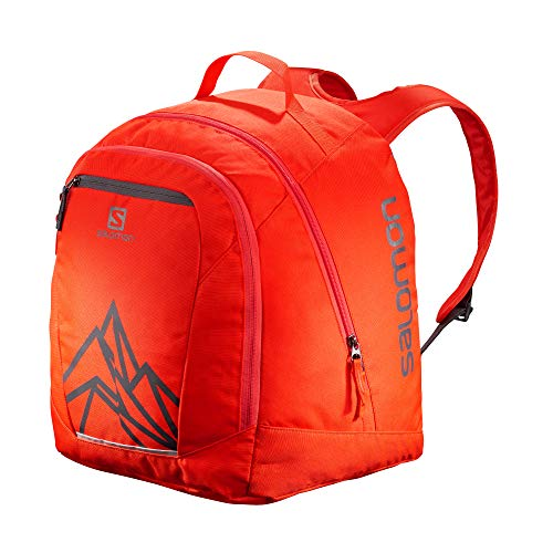 Salomon, Skirucksack ORIGINAL GEAR BACKPACK, Rot (Cherry Red)/Dunkelgrau (Ebony), LC1171300