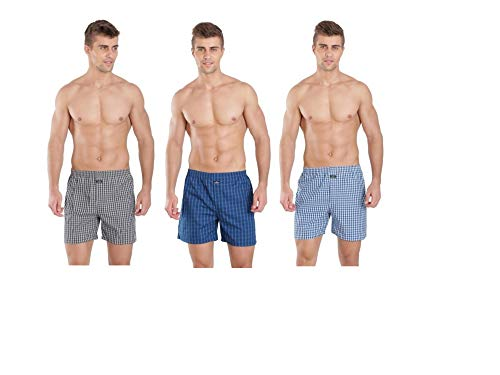 Jockey Men's Cotton Boxers (Assorted, Large) - Pack of 3