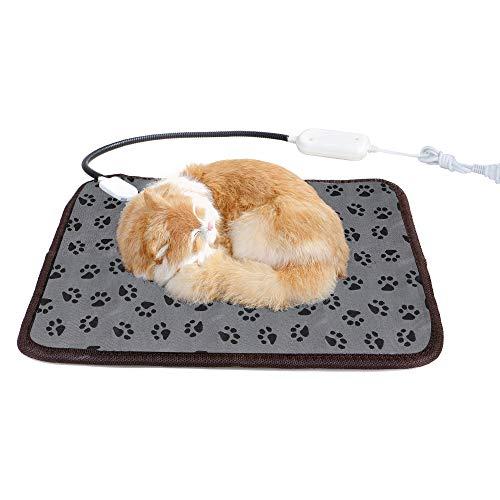 Manta Eléctrica para Perro Nivel 3, Almohadilla Térmica para Perros y Gatos, Interior, Almohadilla térmica Impermeable para Calentadores de pies, tamaño pequeño (45 * 45 cm)