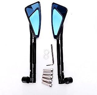 Frenshion 10mm Destro a 10mm Specchietto Retrovisore Motocicletta per Mancini Reverse Nero Bulloni per Conversione ad Angolo Vite Sensore Orario Antiorario Accessori per specchietti