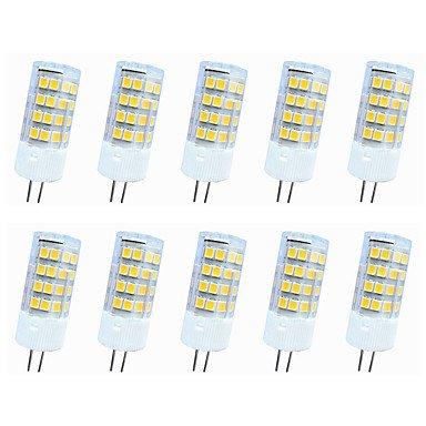 WELSUN LED Ampoule E14 / G9 / G4 5W 51LED SMD 2835 400-450LM lm Blanc Chaud / Blanc Froid Décorative AC110 / AC220 V 10 pièces ( Connector : G4 , Light Source Color : Warm White-220V )