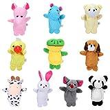 Siumir 10 pcs Marionetas de Dedos Animales Adecuado para Niños Hora de Cuentos, Rellenos...