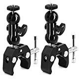 SLOW DOLPHIN Camera Clamp Mount Monitor Mount Bracket Super Clamp w/1/4 and 3/8 Thread wit...