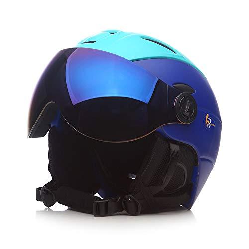 Skihelm en brillenset, unisex fineer dubbele snowboard uitrusting met ski-lens kan dragen bijziendheid oog professionele winddichte beschermende Gear voor skiën
