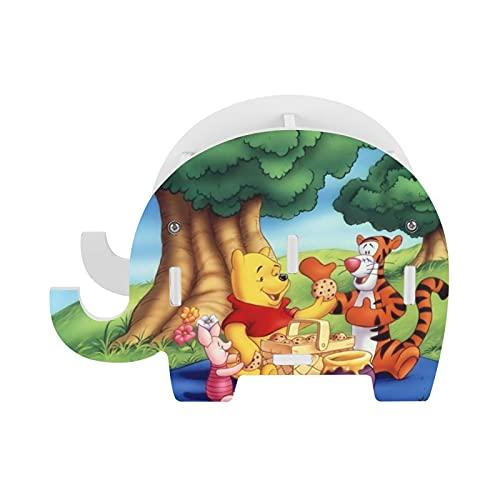 Winnie Cartoon Pooh elefante lápiz titular con soporte para teléfono, accesorios de oficina divertidos soporte para tableta organizador de escritorio