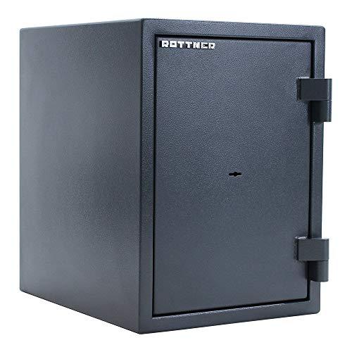 Caja fuerte Fire Hero 50 DB de Rottner, Color Gris, Clase de seguridad EN 1 según IMP, Protección contra incendios 30 minutos LFS 30P - norma EN 15659, Antirrobo, Cerradura de llave de doble paletón