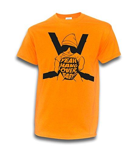 NEON T-Shirt Hangover Baby JGA Wolfsrudel Alan Junggesellenabschied Party Hochzeit (3XL, Neonorange)