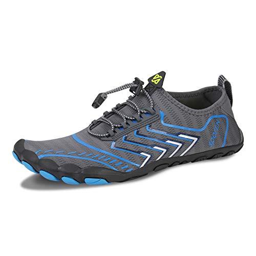 Zapatillas de deporte para entrenar en la playa, para caminar, senderismo, gimnasia, natación, buceo, surf, (Zb D Gris), 47 EU