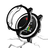 Garmin vivoactive 3 Protector Case,JZK Soft TPU Plated Screen Protector Cover All-Around Protective Screen Cover Bumper Shell [Scratch-Proof] for Garmin vivoactive 3 Smartwatch Accessories,Black