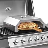 SKM Forno Pizza con Piastra Ceramica per Barbecue a Gas e Carbone