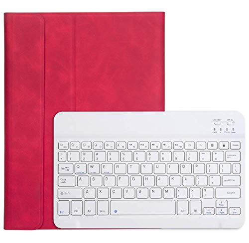 Strnry Keyboard Case voor iPad 10.2 7. Generation 2019, voor iPad 10,2 inch 7 kleuren backlit afneembaar toetsenbord Slim Leather Folio Smart Cover