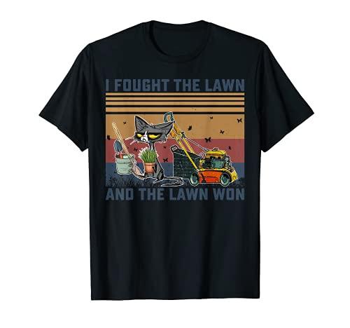 Luché contra el césped y el césped ganó jardinería cortadora Camiseta