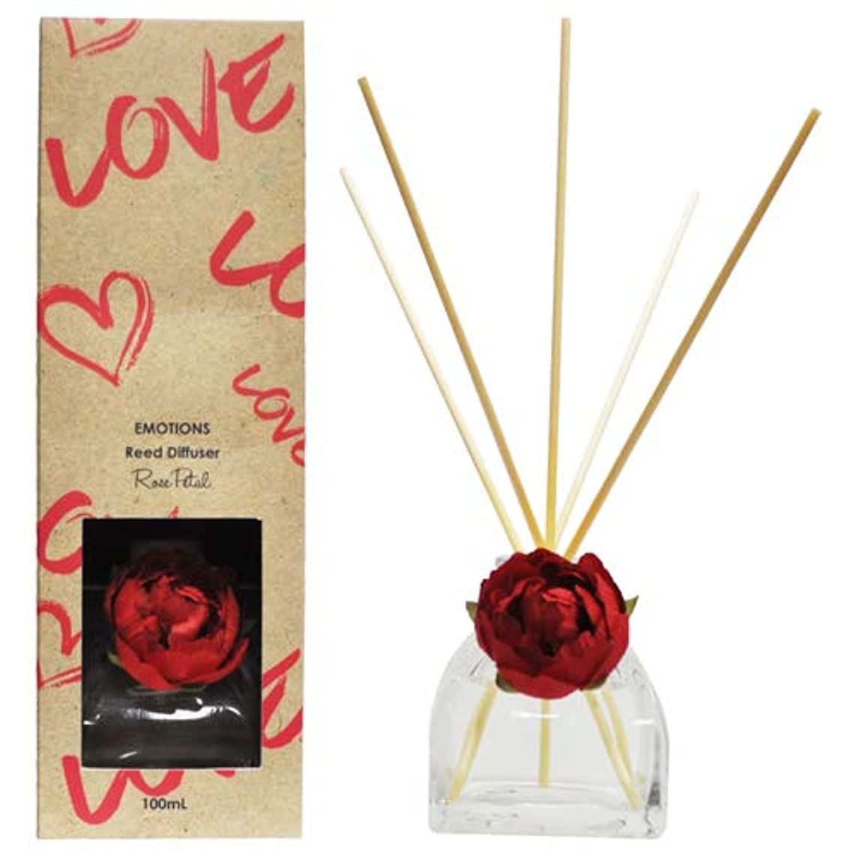 慈悲深い雑多な合理的EMOTIONS エモーション Fibre Reed Diffuser リードディフューザー Love ラブ(Rose Petal ローズペタル)