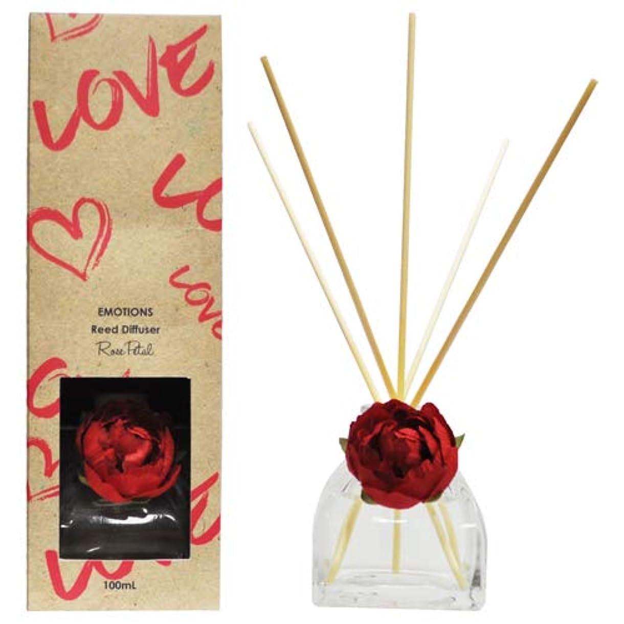 毒性ブート計画EMOTIONS エモーション Fibre Reed Diffuser リードディフューザー Love ラブ(Rose Petal ローズペタル)