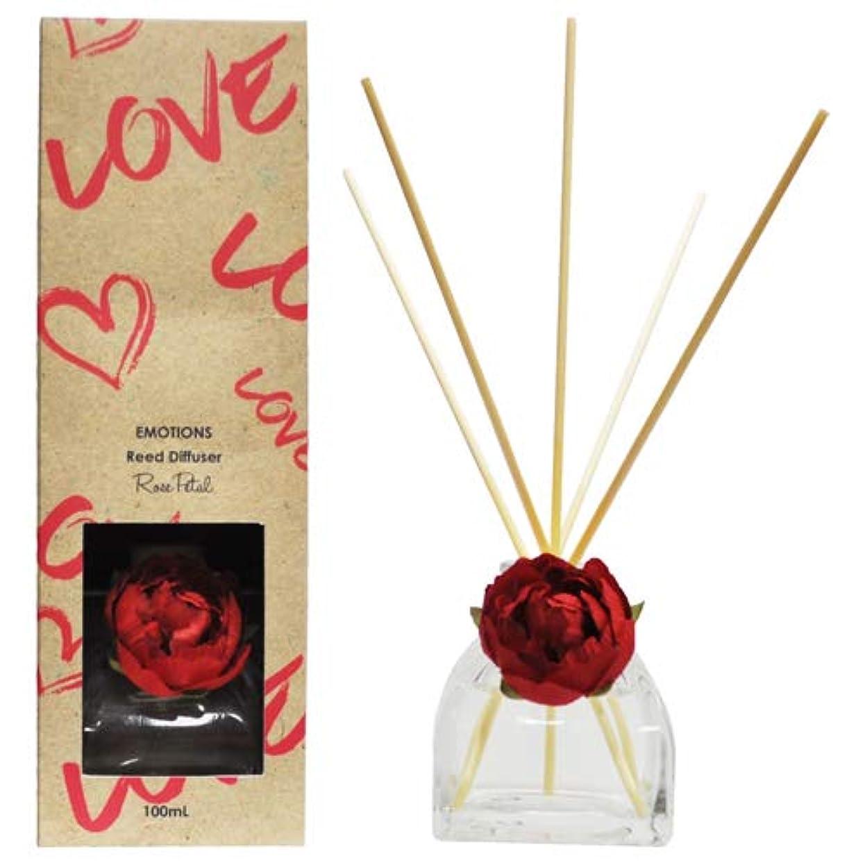 またね遡る効果的三和トレーディング EMOTIONS エモーション Fibre Reed Diffuser リードディフューザー Love ラブ(Rose Petal ローズペタル)