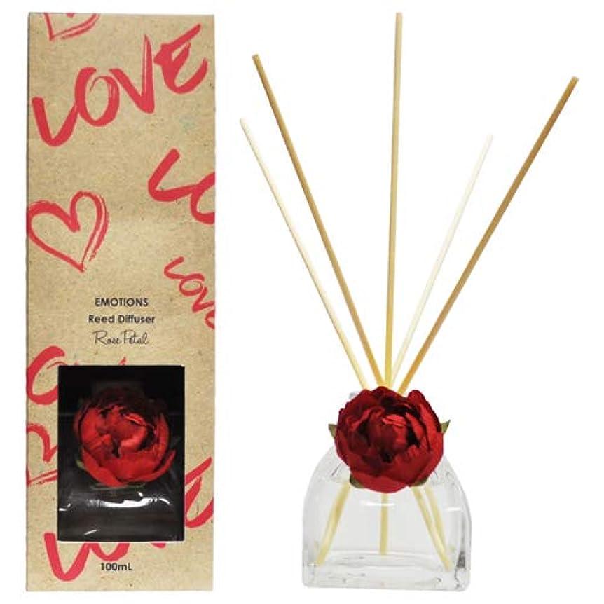 金属エピソード腹部EMOTIONS エモーション Fibre Reed Diffuser リードディフューザー Love ラブ(Rose Petal ローズペタル)