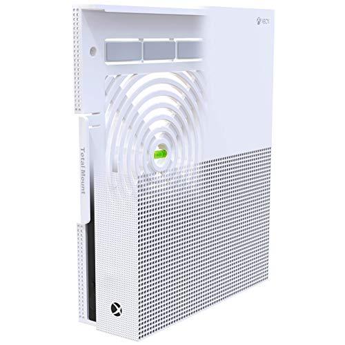 TotalMount Wandhalterung für Microsoft Xbox One S Konsole mit Hitze Management und Sicherheits-Klip ,Schwarz