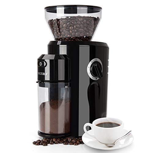 Best Prices! Secura Burr Coffee Grinder, Conical Burr Mill Grinder with 18 Grind Settings from Ultra...