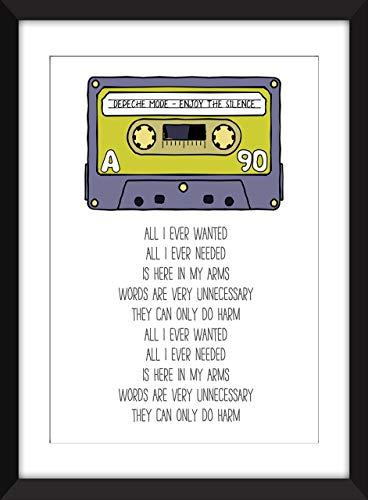 Depeche Mode Enjoy the Silence Lyrics, Unframed Print/Ungerahmter Druck