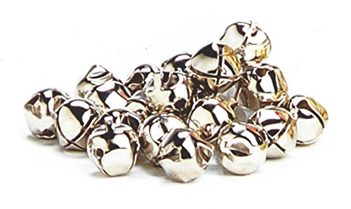BnB Jingle Bells, Small, Silver Craft Supply Accessory for Holiday Art Projects, Favors and Seasonal Decoration or Costumes, ¾ inch Metal, 30 pieces per package, One pack per order