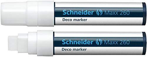 Schneider Novus 126049 Deco-Marker SCHNEIDER 260, 4+7+15 mm, weiß