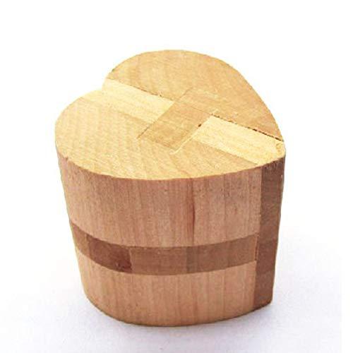 Puzzle Madera 3D para niños, Juegos de Ingenio IQ Juguete Educativos, Juego Logica de para Niños y Adultos, Juguete para el hogar Oficina decoración ecológica Regalo (Heart Lock)