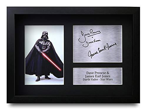 HWC Trading Star Wars Darth Vader A4 Gerahmte Signiert Gedruckt Autogramme Bild Druck-Fotoanzeige Geschenk Für Dave Prowse & James Earl Jones Filmfans
