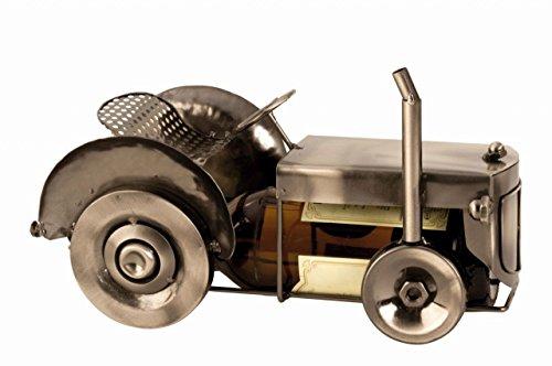 Schöner Bier Flaschenhalter Traktor aus Metall Höhe 15 cm Länge 26 cm