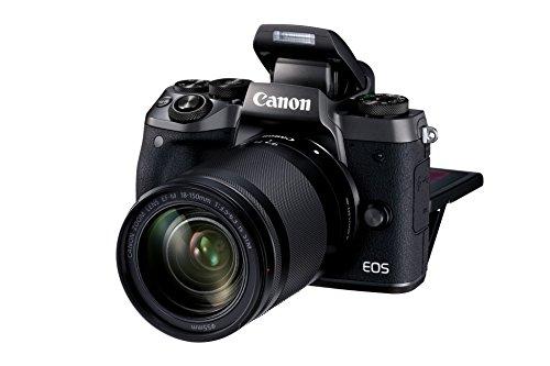 Canon EOS M5 - Kit de Cámara EVIL de 24.2 MP con objetivo EF-M 18-150 S (Pantalla Táctil DE 3.2'', DIGIC, NFC, CMOS, Bluetooth, ISO, EF Lenses, Remote Shooting, Full HD, WiFi) negro
