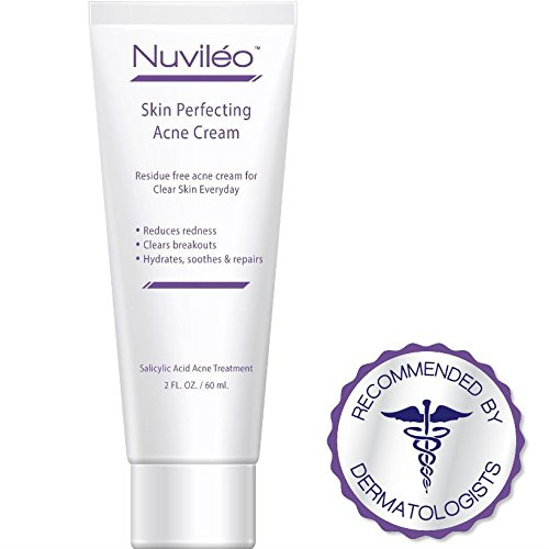 Nuviléo Skin Perfecting Acne Cream – Acne Treatment - for Hormonal Acne, Acne Vulgaris, Cystic Acne, Teen Acne, Pimples, Acne Removal, Non Drying, Oil Free, Natural Gentle Botanical Formula, 2 oz