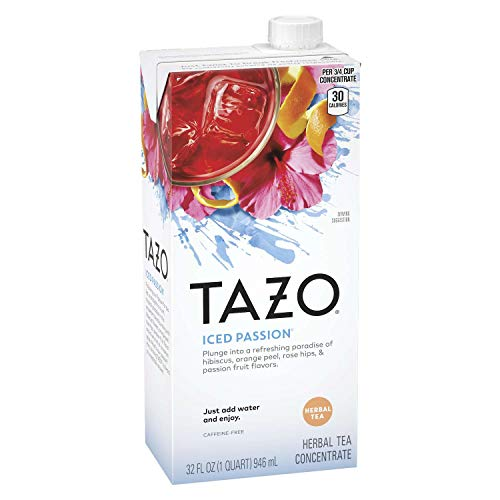 Cheapest Prices! Tazo Iced Tea Concentrate, Iced Passion, 32 Oz Tetra Pak, 6/Carton