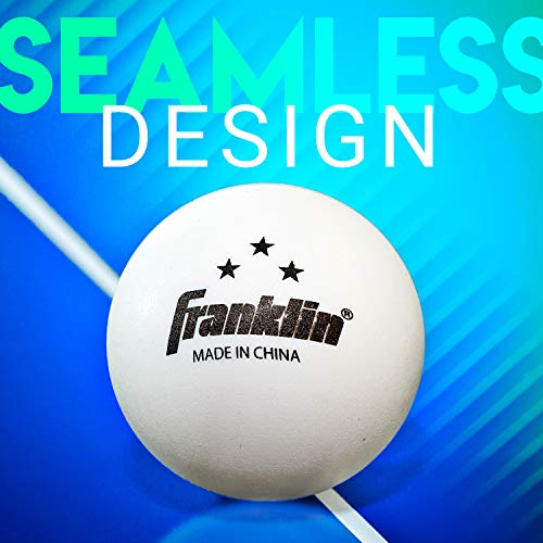 Franklin Sports 3 Star Table Tennis Balls (Pack of 6), 40 mm