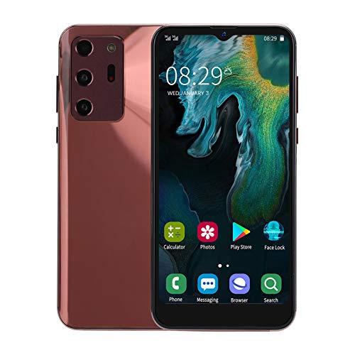 Lazmin112 NOTE30U Teléfono Celular Inteligente con Pantalla de Gota de Agua de 6.3 Pulgadas, Desbloqueo de reconocimiento Facial Cámara Dual Android 1 + 8G Smartphone(Oro)