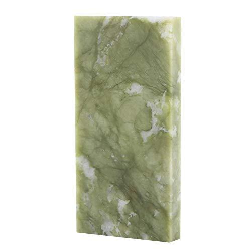 Grindstone 10 x 2 x 0.4 pulgadas natural portátil afilar piedra afiladora afiladora afiladora herramienta para tijeras de cocina (10000 # jade verde)