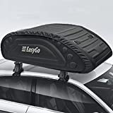 EasyGoProduct Aerodynamic Car Rooftop Cargo Carrier Bag - Soft Roof Top Luggage Bag for All Vehicles SUV with/Without Rack – Hard Sides - 4 Adjustable Straps – 8 Cubic Feet - Fold Flat Storage Bag