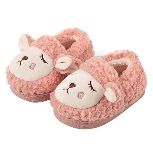 Zapatillas Estar Casa para Niños, Felpa Zapatillas de Oveja Zapatos Cálidos de Invierno para la Casa para Bebés Niños Niñas