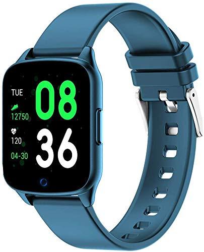 NO BRAND Reloj Inteligente KW17 Reloj de Pulsera con Monitor de Ritmo cardíaco para Mujer Reloj Inteligente para Mujer Reloj Inteligente para Mujer Pulsera Inteligente VS K19 KW10, Azul