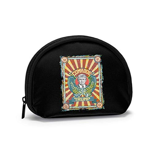 Compagno Propaganda comunista russa Piccola borsa per portafoglio con portamonete mi-ni Borse per cosmetici Borsa con cerniera per donna