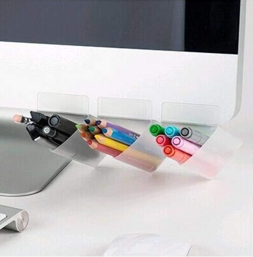 pezzo Steel Mesh Style Pen Pencil Coppa Organizer da scrivania Holder per Home Office Round Black