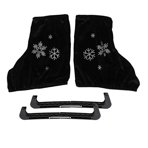 Pattino di Ghiaccio Boot Covers Protector Copriscarpe E Protezioni per Pattinaggio di Figura - Nero, L