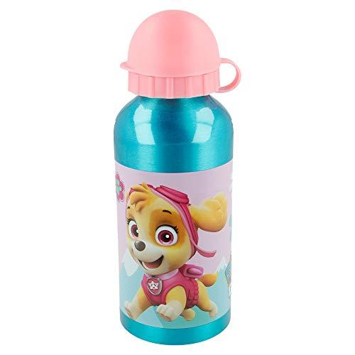 Paw Patrol - Skye - Everest | Aluminium-Kinderflasche - Kinder-Wasserflasche - Wiederverwendbare Wasserflasche - 400 ML