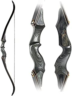 Obert Original Black Hunter Archery Takedown Recurve Bow 58inch with Bamboo Core Limbs Hunting Target Practice