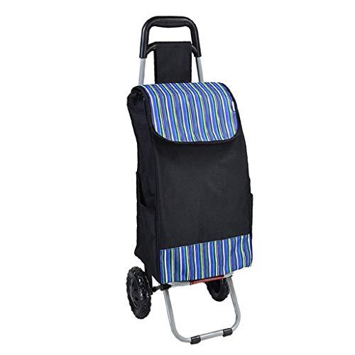 ZLININ Y-longhair - Carrito de la compra plegable portátil para montañismo, carrito de la compra plegable