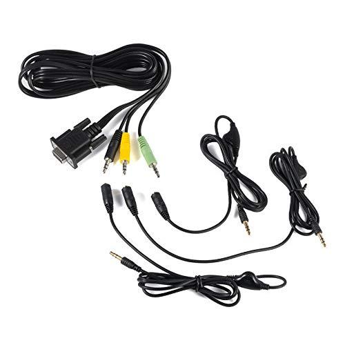 YUHUA ELE 3 Jack 7Ft Lautsprecher Kabel für Logitech Z5500 Kontroll Pod Bypass Kabel & Volumen Steuerung zwischen R200-R636 PIDs, Ersatz Subwoofer Audio System Erweiterung Kabel