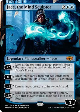 Magic: The Gathering - Jace, The Mind Sculptor - Foil - War of The Spark - Mythic Edition