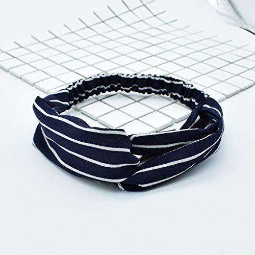 SeniorMar-UK Streifen Stretch Haarband Charakter Muster Haar Elastische Kopfbedeckung Yoga Sport Stirnband Turban Waschband Haarschmuck