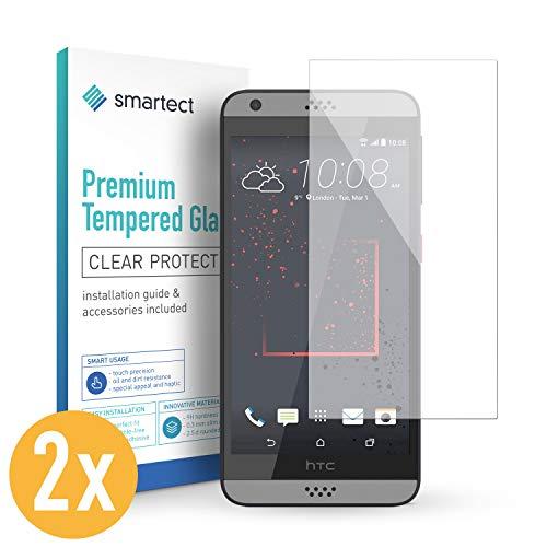 smartect Panzerglas kompatibel mit HTC Desire 530 [2 Stück] - Displayschutz mit 9H Härte - Blasenfreie Schutzfolie - Anti Fingerprint Panzerglasfolie