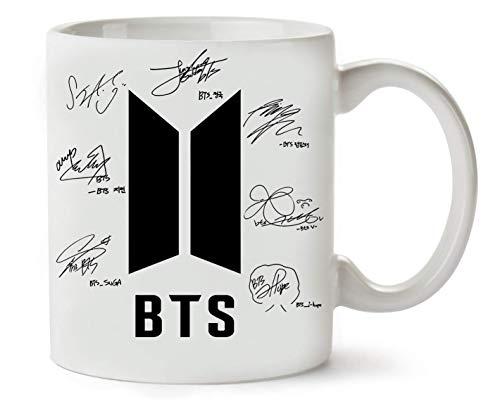 BTS Bangtan Boys Firmas Autógrafo Classic Té Taza de café