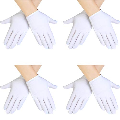 SATINIOR 4 Pairs White Kids Costume Gloves Dress Cotton Gloves Short...